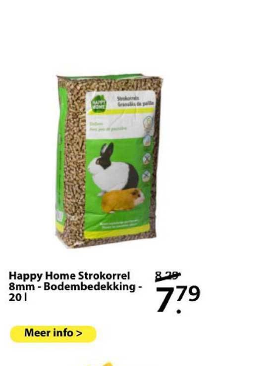 Boerenbond Happy Home Strokorrel 8mm - Bodembedekking - 20 L