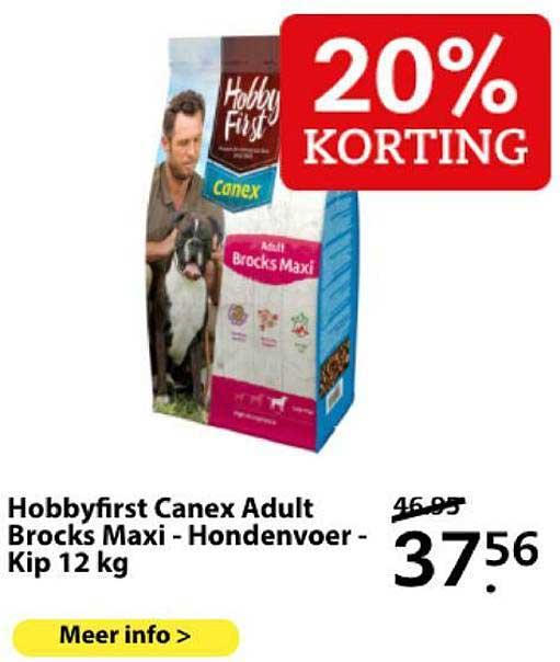 Boerenbond Hobbyfirst Canex Adult Brocks Kip - Hondenvoer - 12 Kg 20% Korting