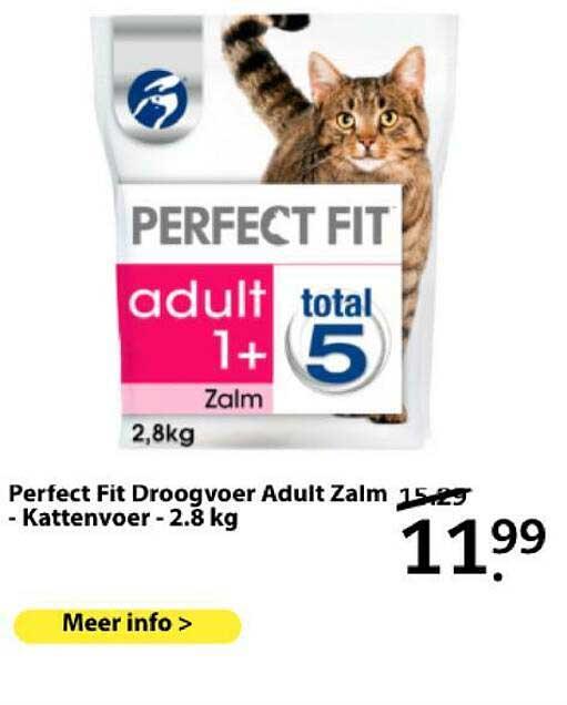 Boerenbond Perfecr Fit Droogvoer Adult Zalm - Kattenvoer - 2.8 Kg