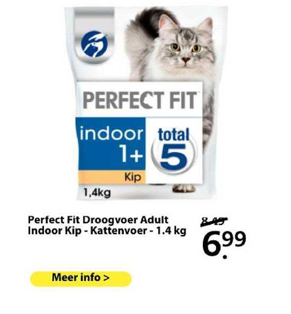 Boerenbond Perfect Fit Droogvoer Adult Indoor Kip - Kattenvoer - 1.4 Kg