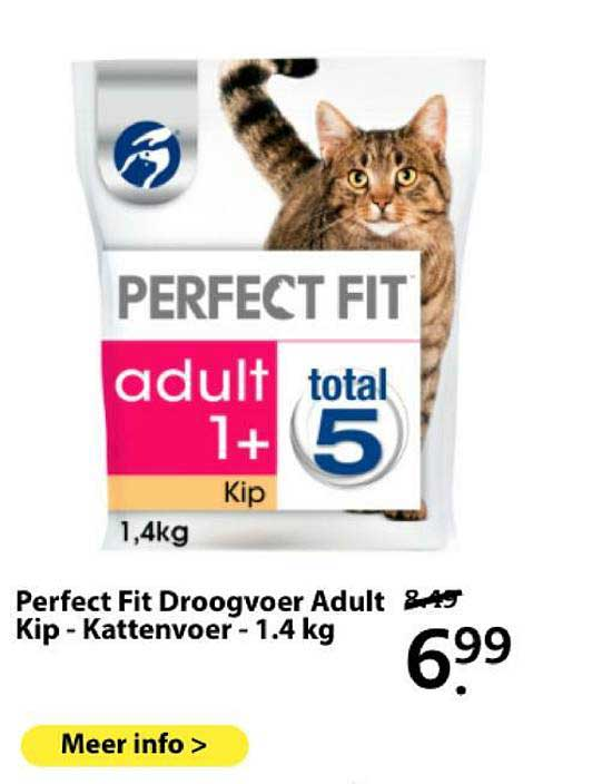 Boerenbond Perfect Fit Droogvoer Adult Kip - Kattenvoer - 1.4 Kg