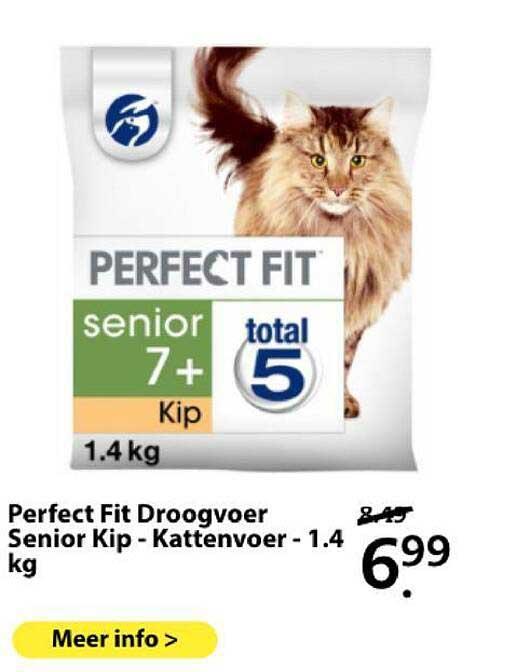 Boerenbond Perfect Fit Droogvoer Senior Kip - Kattenvoer - 1.4 Kg