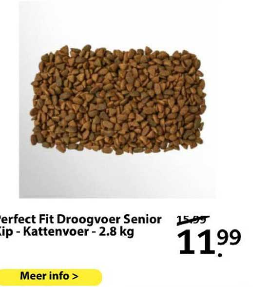 Boerenbond Perfect Fit Droogvoer Senior Kip - Kattenvoer - 2.8 Kg