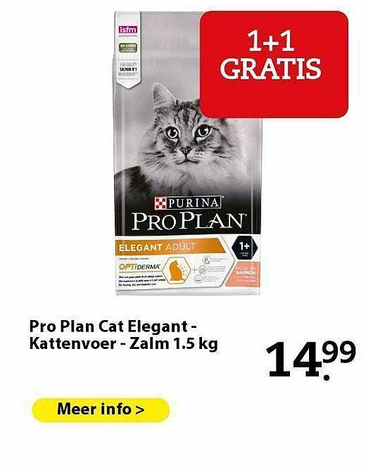 Pets Place Pro Plan Cat Elegant - Kattenvoer - Zalm 1.5 Kg
