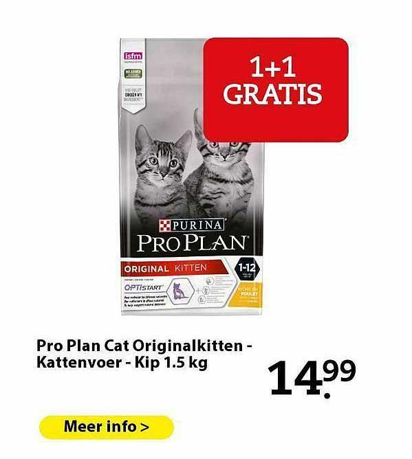 Pets Place Pro Plan Cat Originalkitten - Kattenvoer - Kip 1.5 Kg