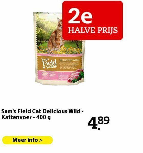 Pets Place Sam's Field Cat Delicious Wild - Kattenvoer - 400 G