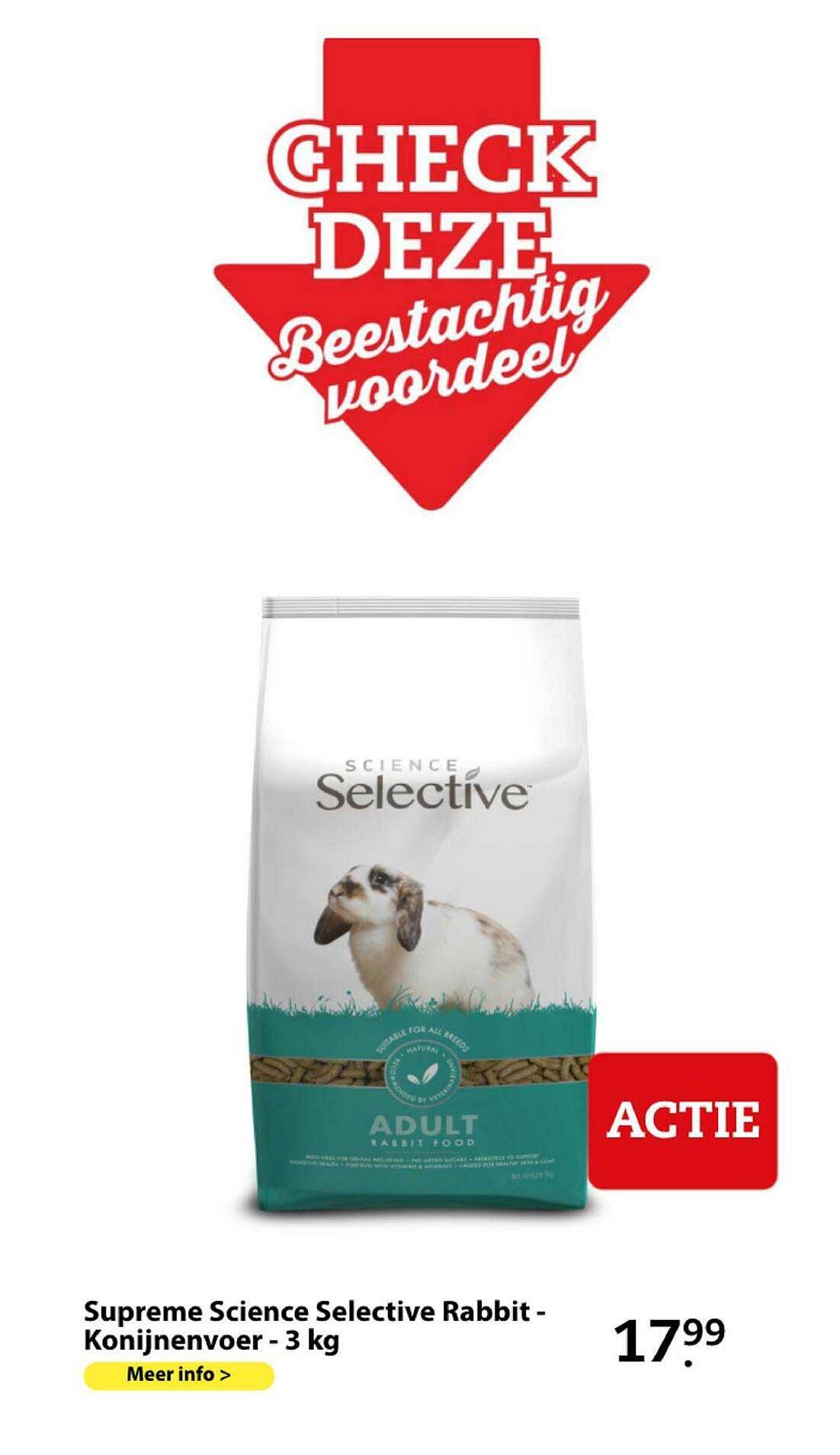 Boerenbond Supreme Science Selective Rabbit - Konijnenvoer - 3 Kg