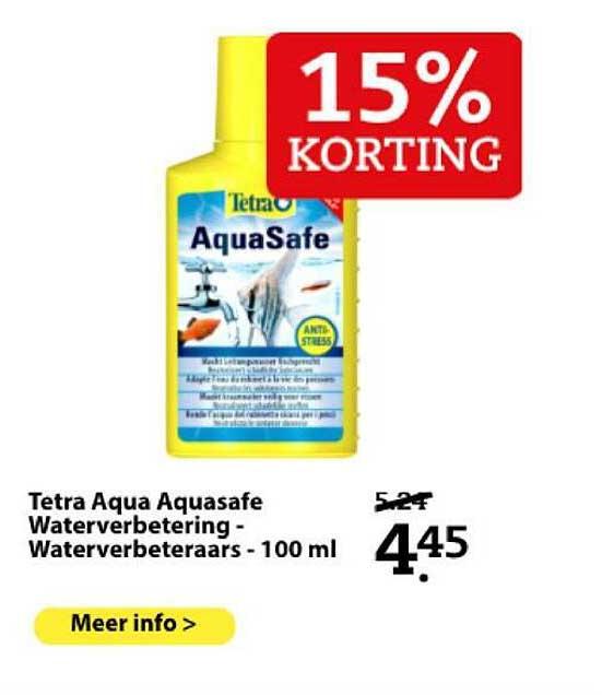 Boerenbond Tetra Aqua Aquasafe Waterverbetering - Waterverbeteraars - 100 Ml 15% Korting