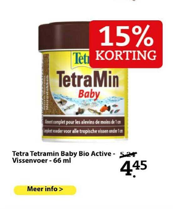 Boerenbond Tetra Tetramin Baby Bio Active - Vissenvoer - 66 Ml 15% Korting