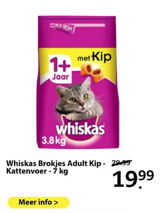 Boerenbond Whiskas Brokjes Adult Kip - Kattenvoer - 7 Kg