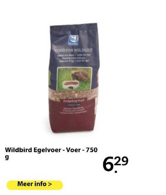 Boerenbond Wildbird Egelvoer - Voer - 750 G