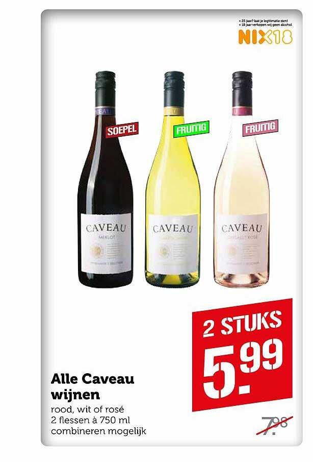 Coop Alle Caveau Wijnen Rood, Wit Of Rosé