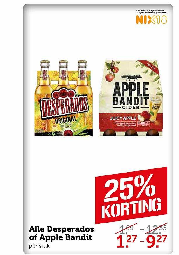 Coop Alle Desperados Of Apple Bandit 25% Korting