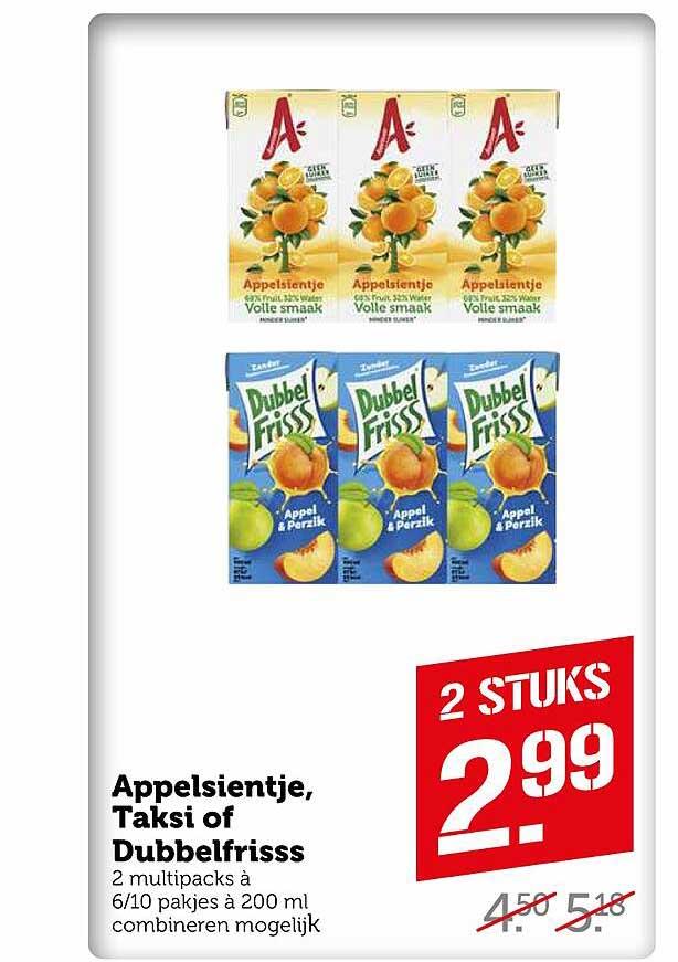 Coop Appelsientje, Taksi Of Dubbelfrisss