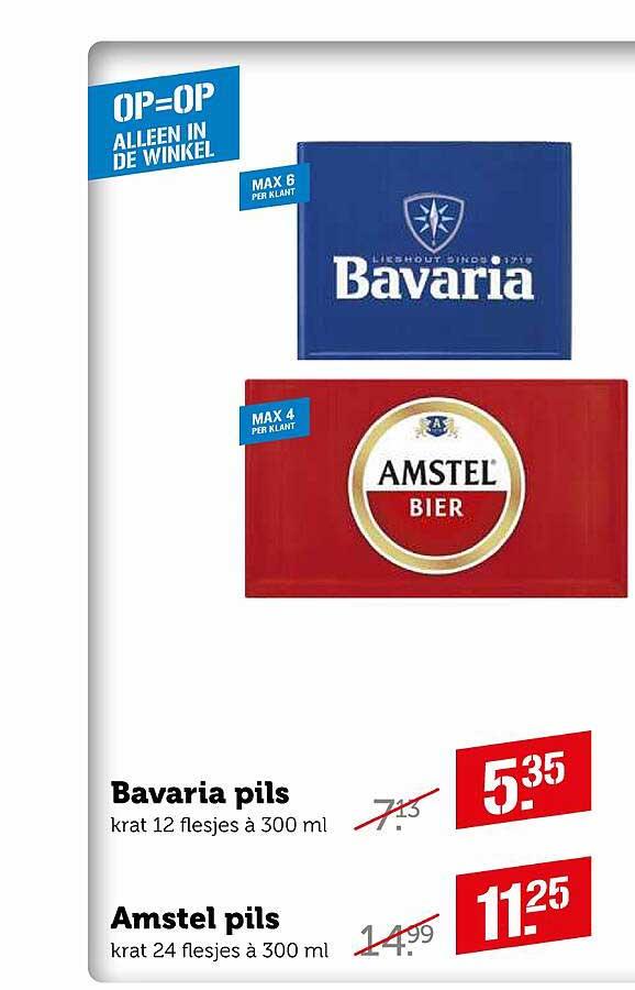 Coop Bavaria Pils Of Amstel Pils