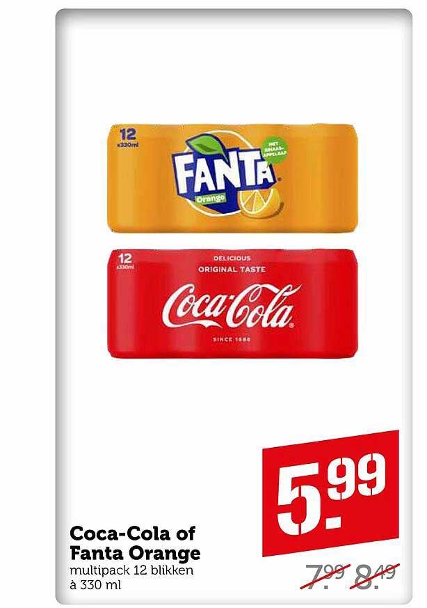 Coop Coca-Cola Of Fanta Orange