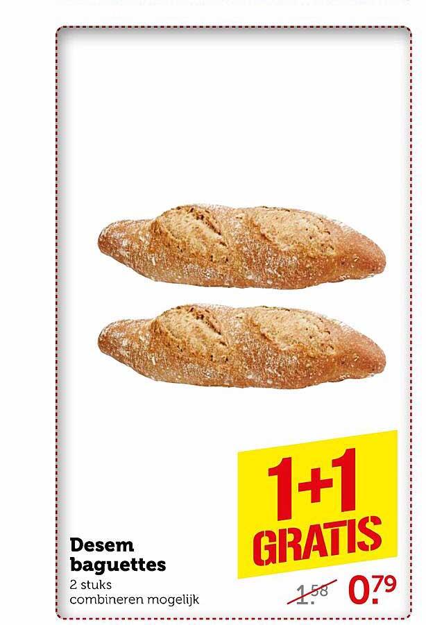 Coop Desem Baguettes 1+1 Gratis