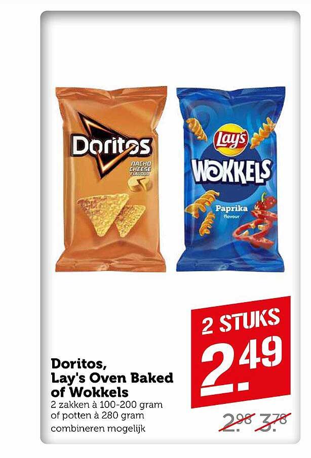 Coop Doritos, Lay's Oven Baked Of Wokkels