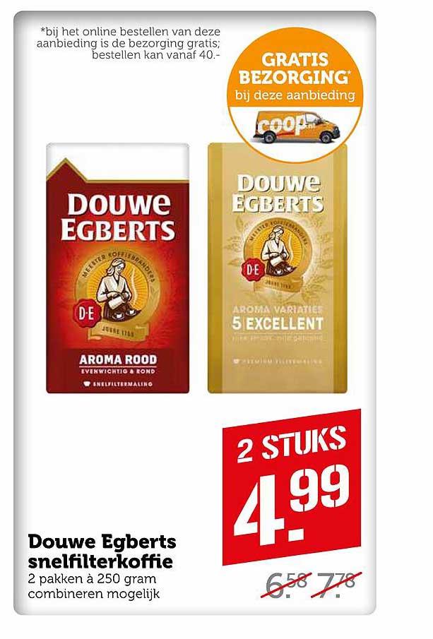 Coop Douwe Egberts Snelfilterkoffie