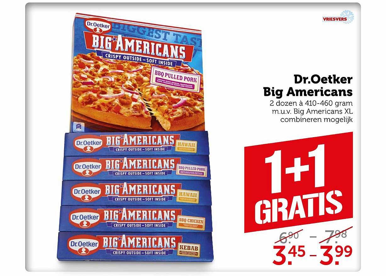Coop Dr. Oetker Big Americans 1+1 Gratis
