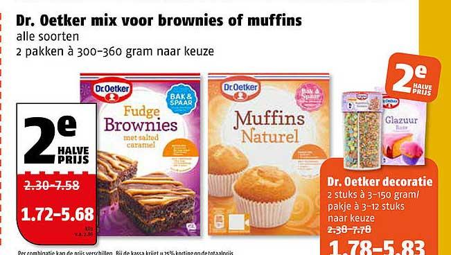 Poiesz Dr. Oetker Mix Voor Brownies Of Muffins