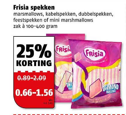 Poiesz Frisia Spekken Marsmallows, Kabelspekken, Dubbelspekken, Feestspekken Of Mini Marshmallows