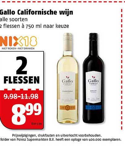 Poiesz Gallo Californische Wijn