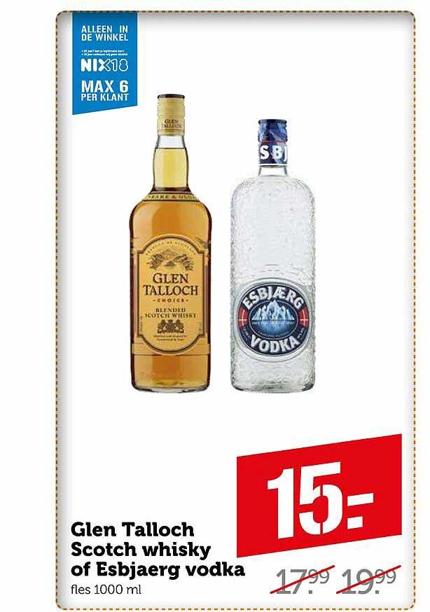 Coop Glen Talloch Scotch Whisky Of Esbjaerg Vodka