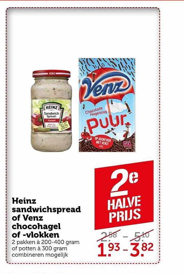 Coop Heinz Sandwichspread Of Venz Chocohagel Of -vlokken