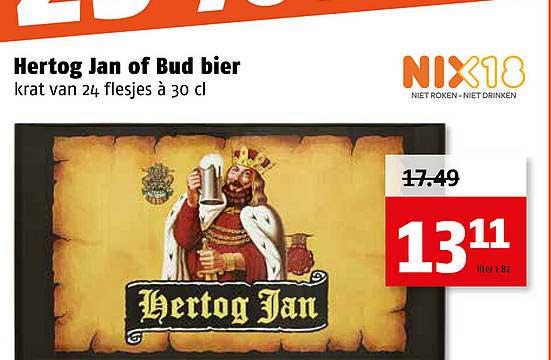 Poiesz Hertog Jan Of Bud Bier