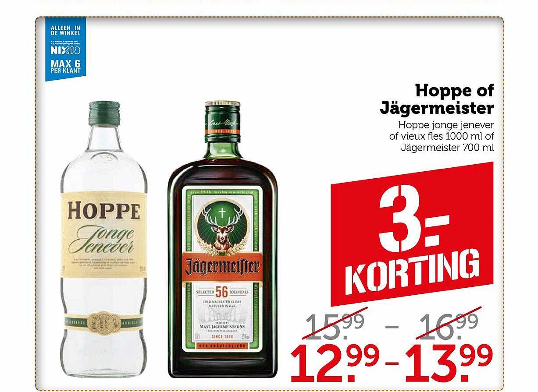 Coop Hoppe Of Jägermeister 3.- Korting