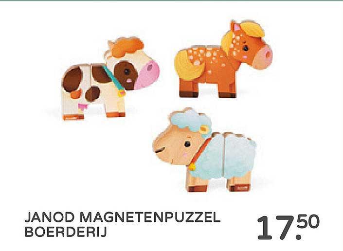 Prénatal Janod Magnetenpuzzel Boerderij