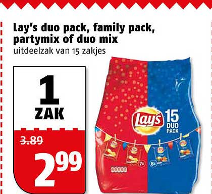 Poiesz Lay's Duo Pack, Family Pack, Partymix Of Duo Mix