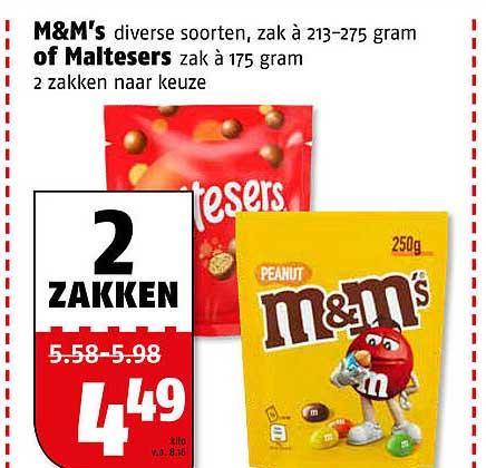 Poiesz M&M's Of Maltesers