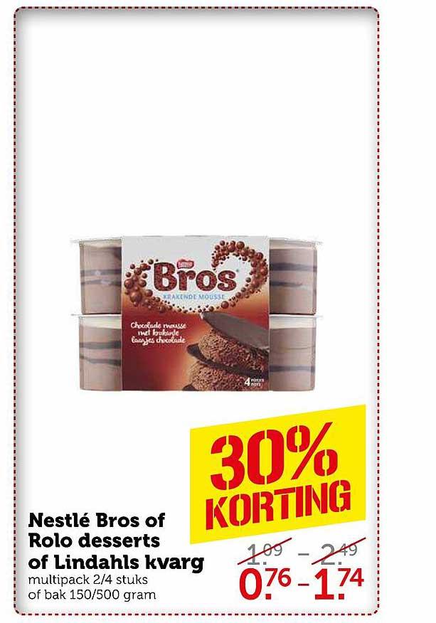 Coop Nestlé Bros Of Rolo Desserts Of Lindahls Kvarg 30% Korting