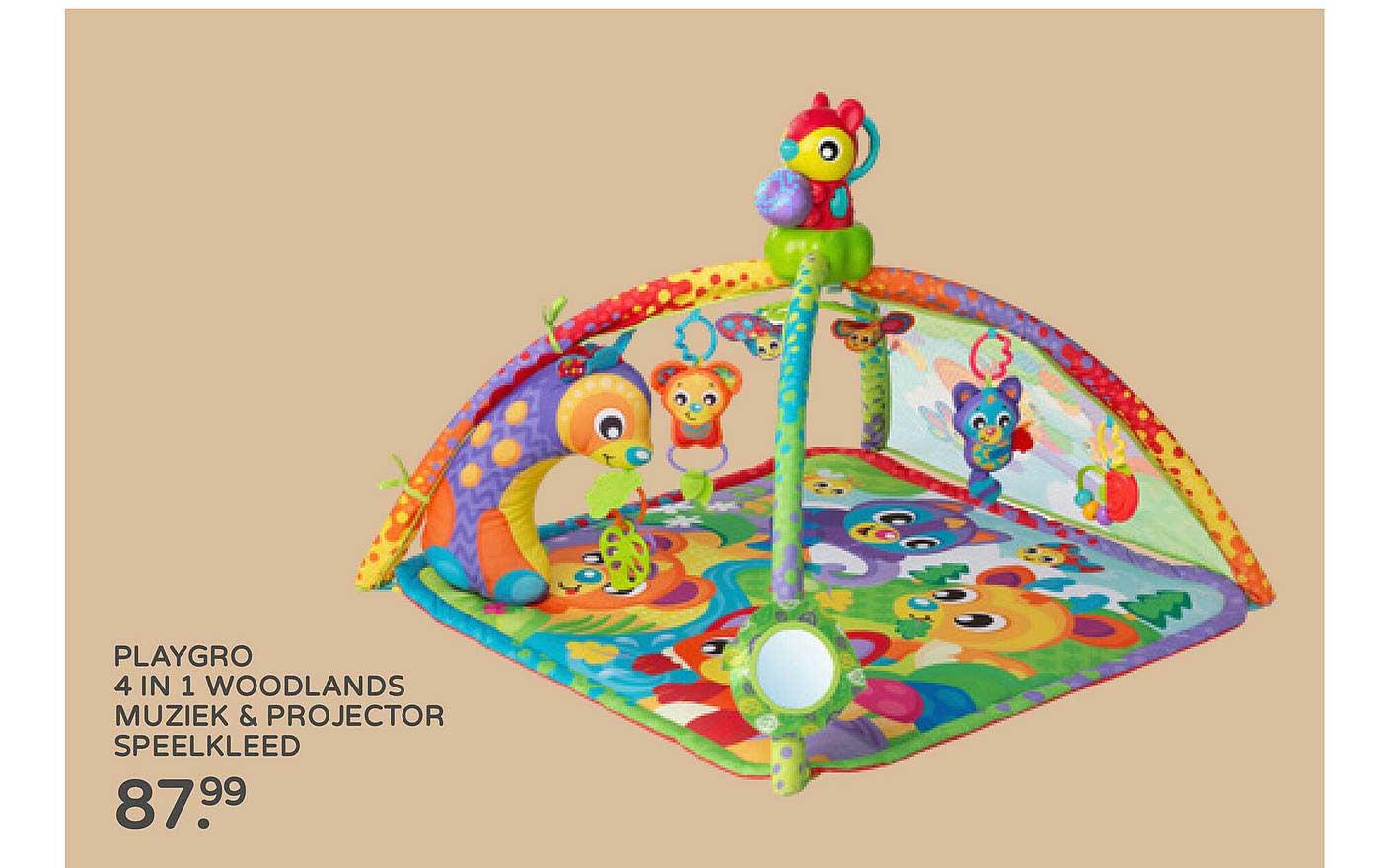 Prénatal Playgro 4 In 1 Woodlands Muziek & Projector Speelkleed