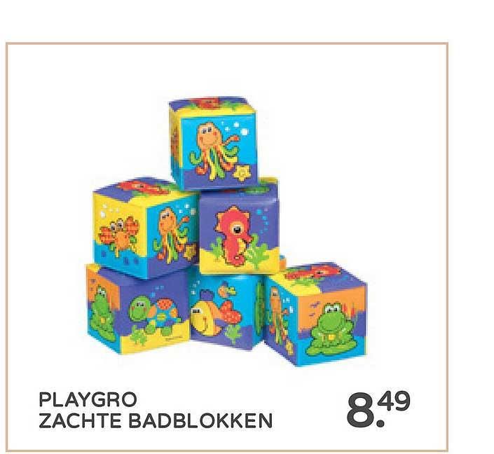 Prénatal Playgro Zachte Badblokken