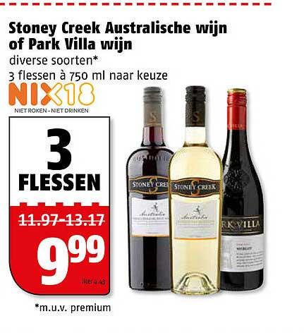 Poiesz Stoney Creek Australische Wijn Of Park Villa Wijn