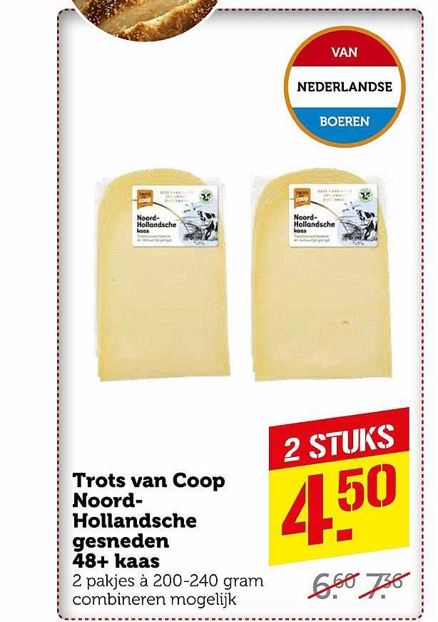 Coop Trots Van Coop Noord Hollandsche Gesneden 48+ Kaas