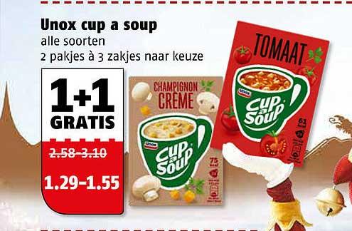 Poiesz Unox Cup A Soup 1+1 Gratis