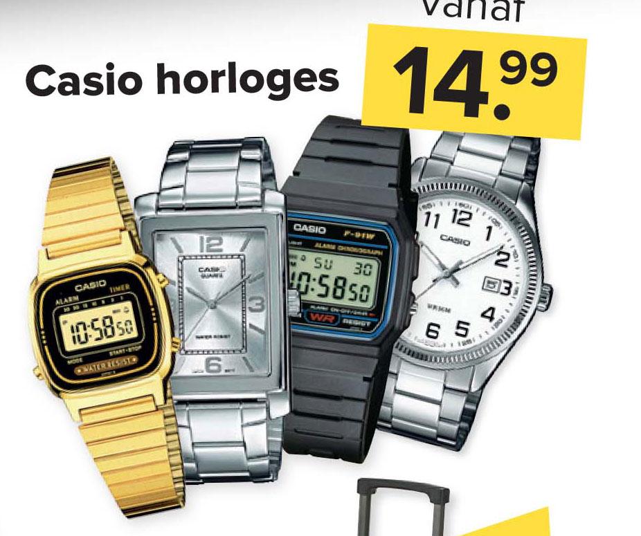 Kijkshop Casio Horloges: Vanaf €14,99