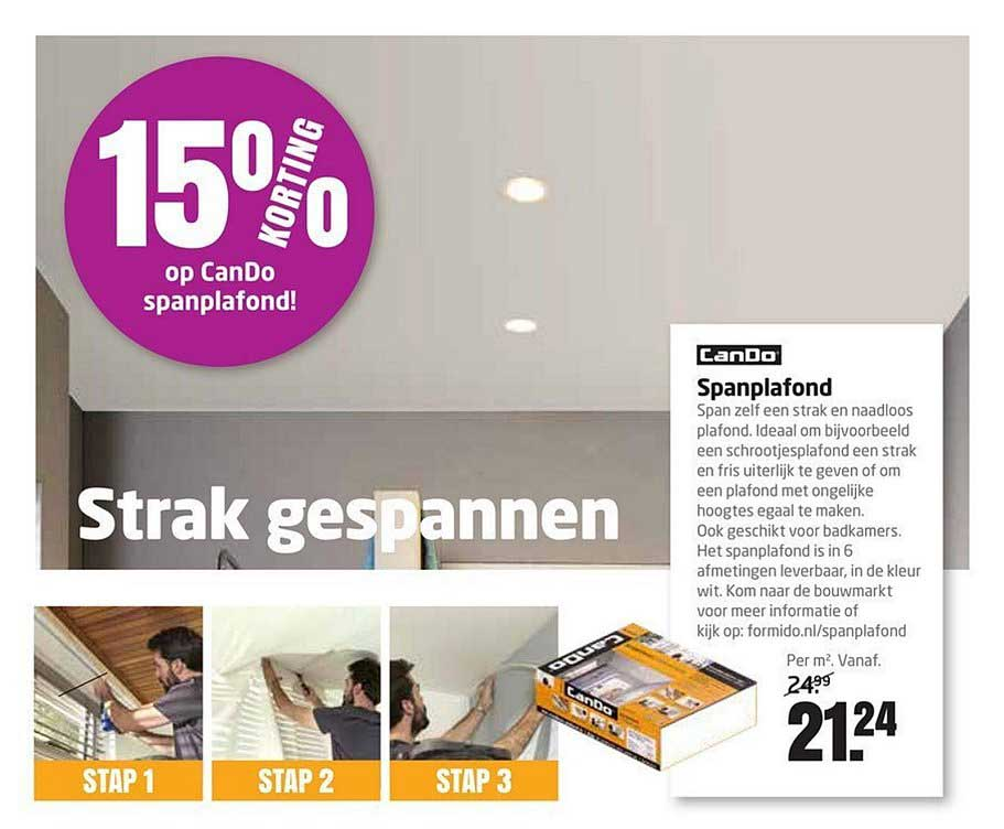 Formido 15% Korting Op Cando Spanplafond