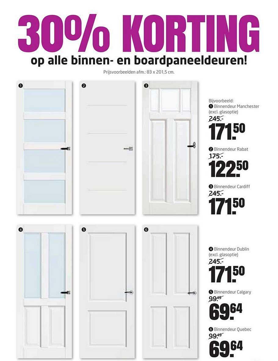 Formido 30% Korting Op Alle Binnen En Boardpaneeldeuren