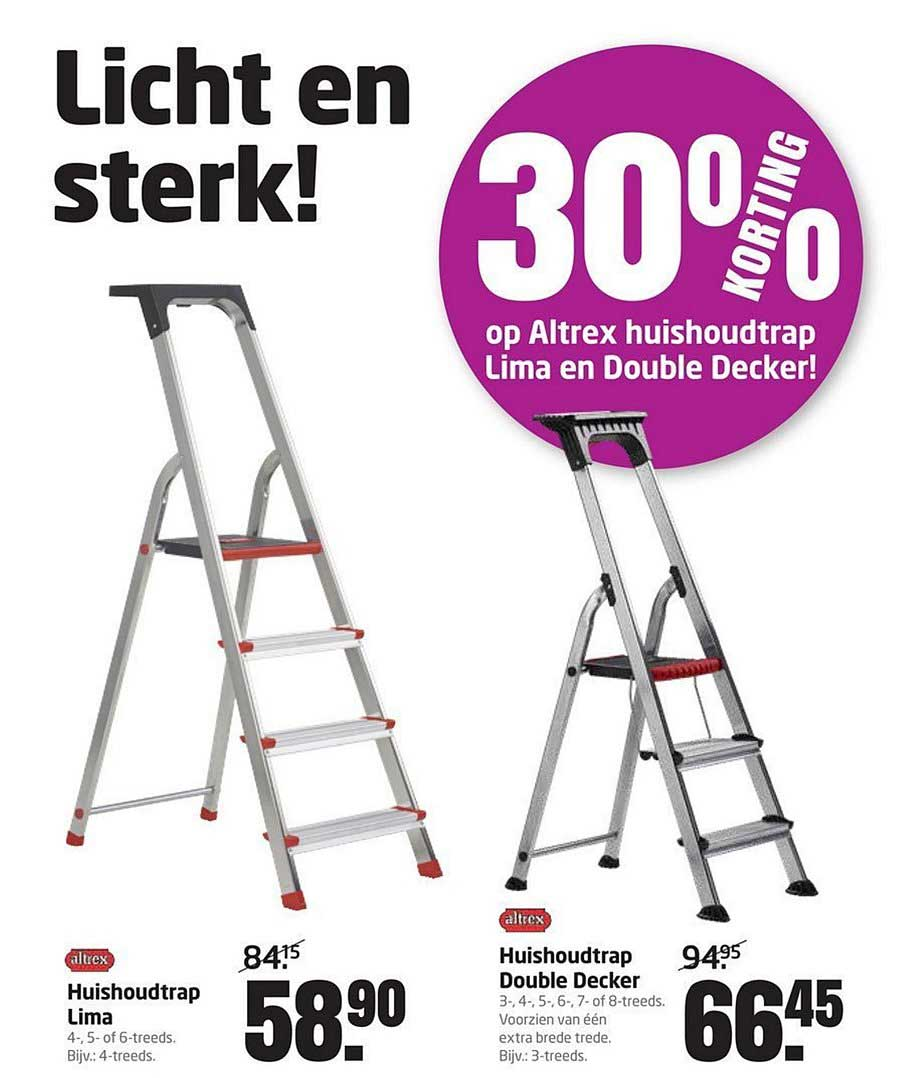 Formido 30% Korting Op Altrex Huishoudtrap Lima En Double Decker