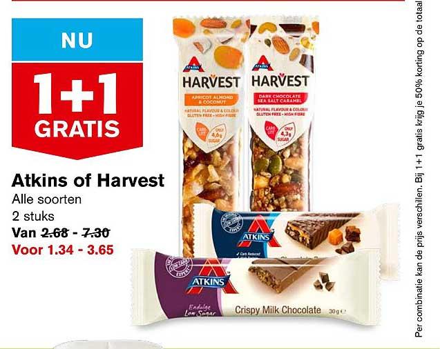 Hoogvliet Atkins Of Harvest: 1+1 Gratis
