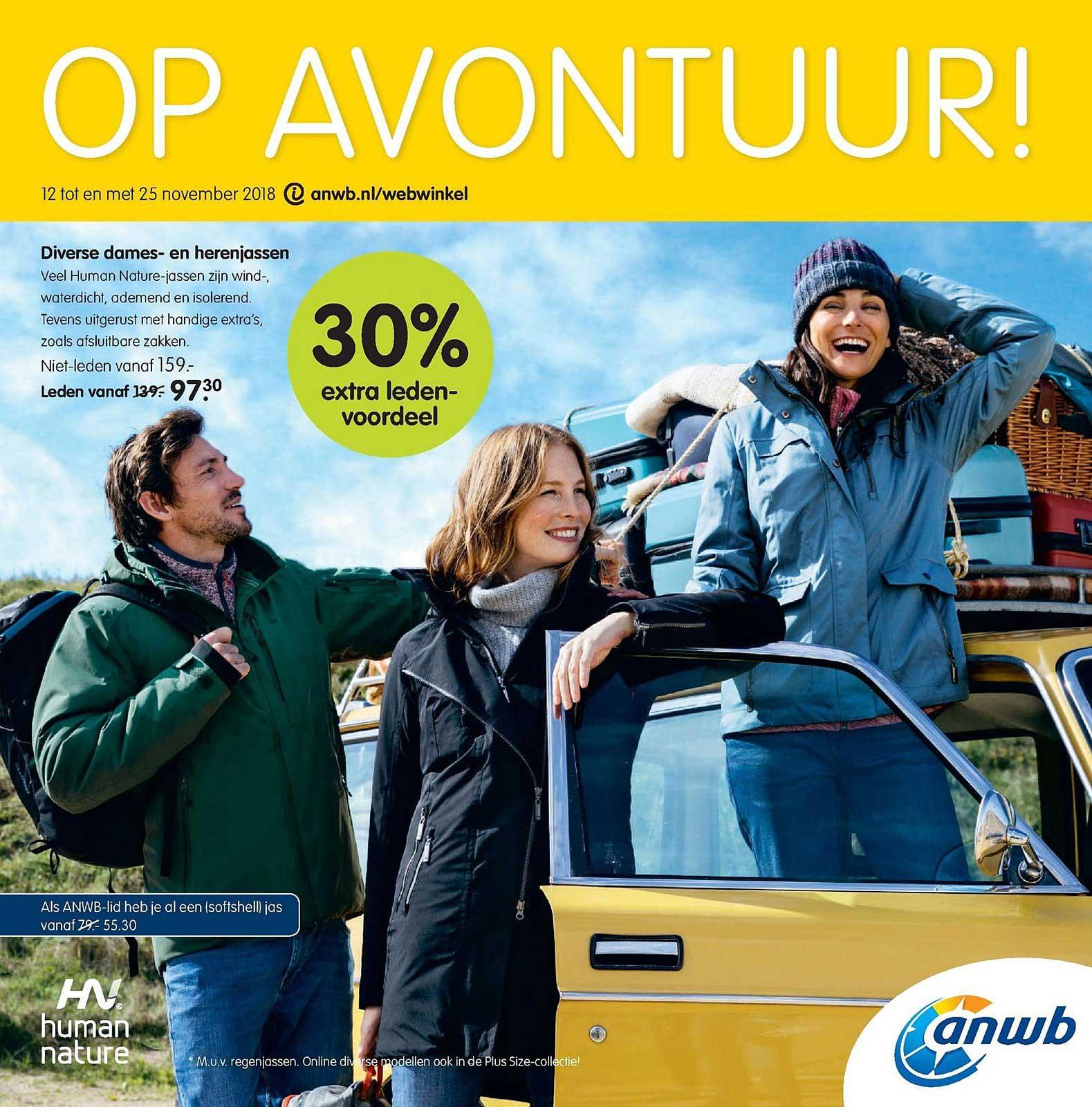 ANWB Diverse Dames En Herenjassen: 30% Extra Ledenvoordeel