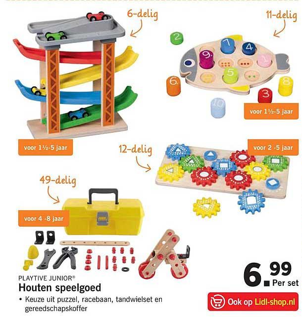 Houten Speelgoed Aanbieding bij Lidl