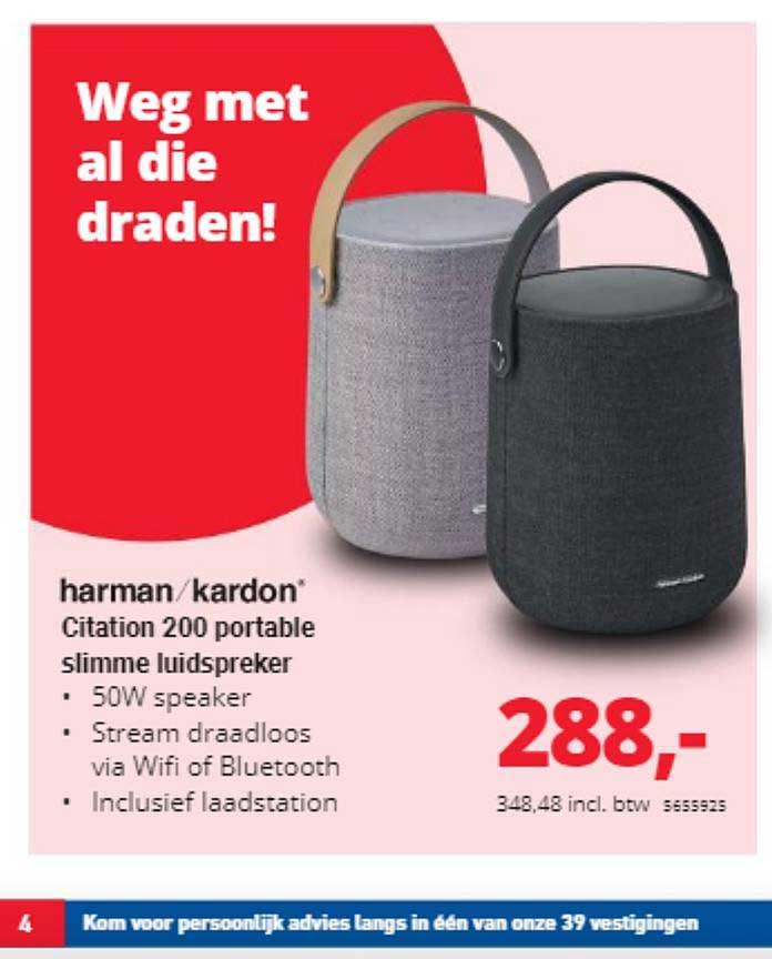 Office Centre Harman-Kardon Citation 200 Portable Slimme Luidspreker