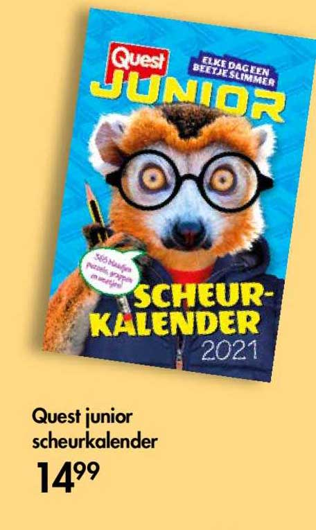 The Read Shop Quest Junior Scheurkalender