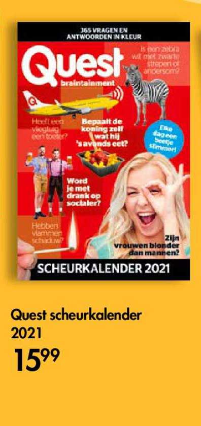 The Read Shop Quest Scheurkalender 2021